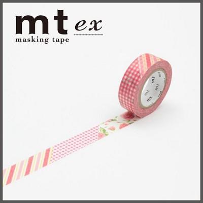 폭15mm-일본 mt 디자인 마스킹테이프 Deco-꽃패턴 hd205-EX54