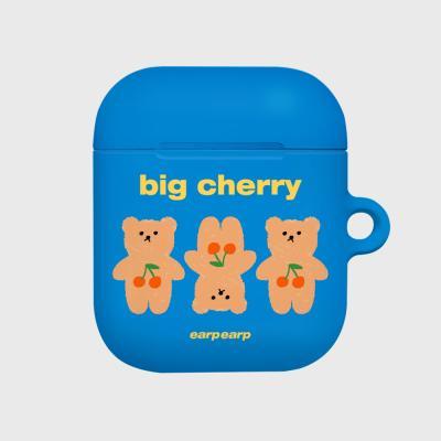 Three cherry big bear-blue(Hard air pods)