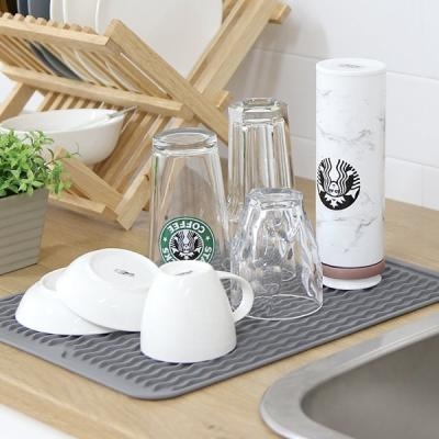 주방싱크대 컵 식기건조 실리콘 냄비받침 트레이 KT40