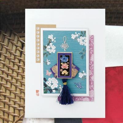 카드/축하카드/감사카드/연하장 천세일시 복주머니 FT223-5