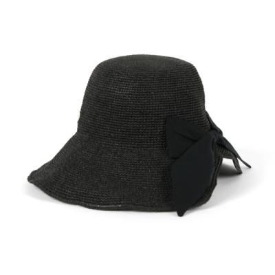 [베네]블랙리본 샤이니 벙거지 모자