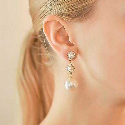 j-e21 pearl crystal earring