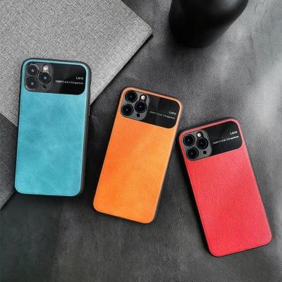 아이폰 XR XS MAX 카메라보호 패션 컬러 가죽 케이스
