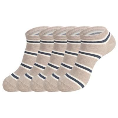 [쿠비카]투톤 라인 스니커즈 남성 단목양말 5족 S419