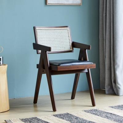 [리비니아]홀리팔걸이체어 고급원목 라탄의자
