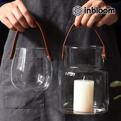 인블룸 북유럽스타일 핸들 투명유리병
