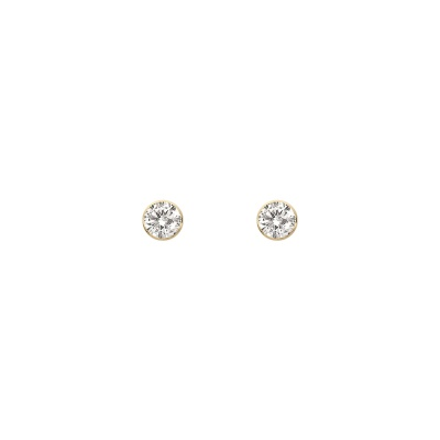 [10K] 베리 화이트 귀걸이(4MM)