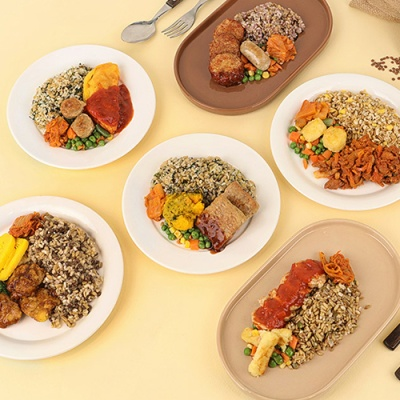 [허닭] 잡곡밥도시락 6종 6팩