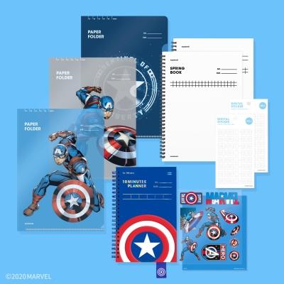 모트모트 플래너 - 마블 캡틴아메리카 Set