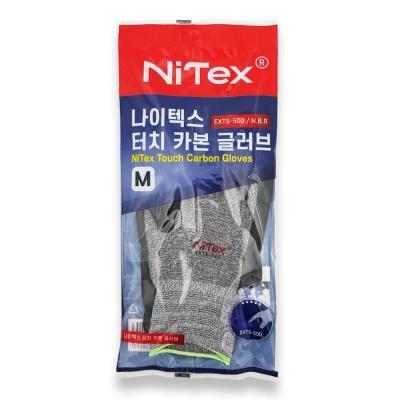 나이텍스 터치 반코팅 코팅 안전 작업용 nbr 장갑 M