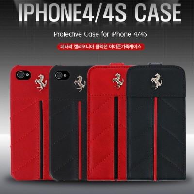 [페라리] 정품  캘리포니아 콜렉션 아이폰4/4S 폴더형 고급가죽케이스