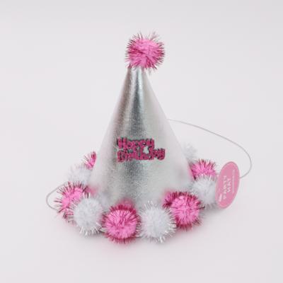 미니 방울 고깔모자 (핑크)