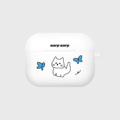 Awesome cat-white(Air pods pro case)