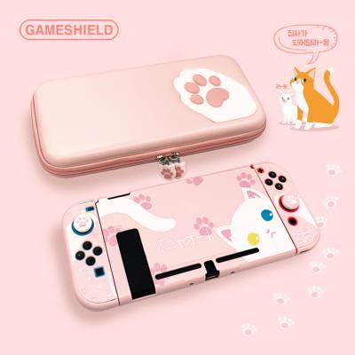 닌텐도스위치 고양이 파우치 케이스 스틱커버 3종세트