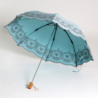 [더로라]미찌코 런던 3단 양산- 로즈가든 E009