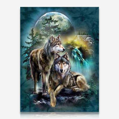 늑대 두마리 DIY 보석십자수 십자수 비즈세트