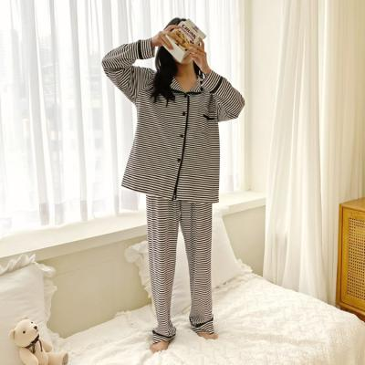 Black Stripe Pajama Set