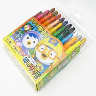 뽀로로 미니색연필 20색 지구화학 학용품 지구색연필