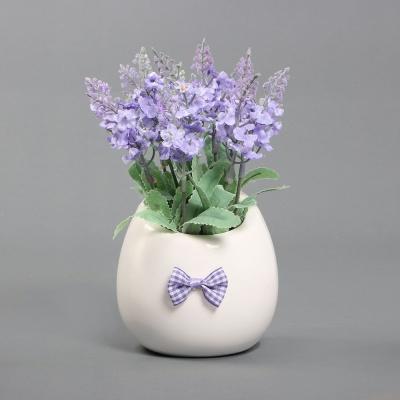 라벤더 조화 화분 라이트퍼플 인테리어조화 조화꽃