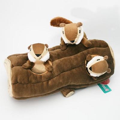 지피포우즈 숨은 통나무 다람쥐 찾기 간식볼&삑삑이 애견/강아지 장난감