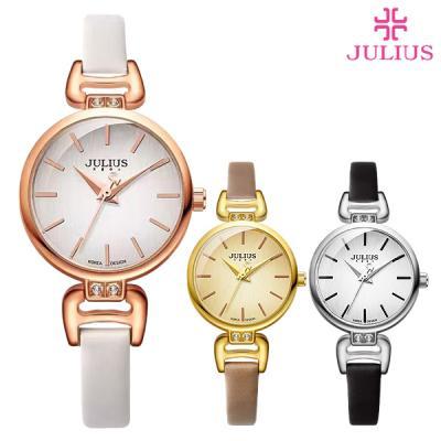 줄리어스 여성 가죽 시계 JA-925 스테인(4color)