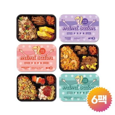 [미미쌀롱]곤약밥도시락 6종 6팩