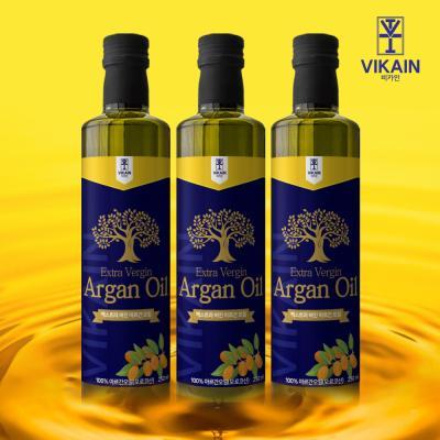 비카인 100% 모로코산 식용 아르간오일 250ml x 3병