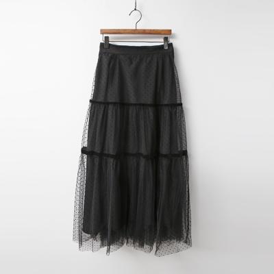 Dot Cha Cancan Long Skirt