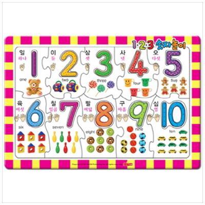 [새샘] 123 숫자놀이 : 귀염둥이 지능퍼즐   [퍼즐 ]