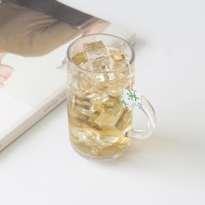 홈카페 유리컵 유리잔 손잡이 라운드머그 270ml