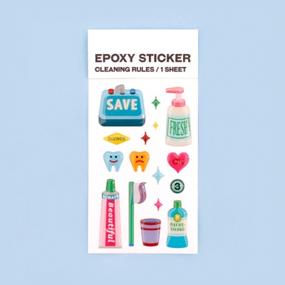 덴스 EPOXY STICKER_CLEANING RULES