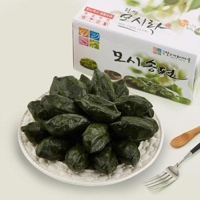전통방식 한산 모시잎 찐 송편 선물박스 1.2kg/25개