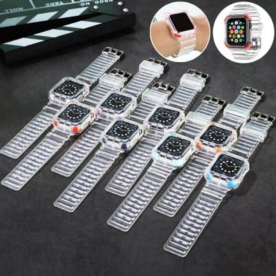 애플워치 6 5 4 3 SE 포인트 투명 스트랩 밴드 시계줄