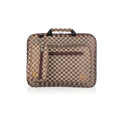노트북가방 13.3인치(포켓형) 체스체크 쟈가드 브라운