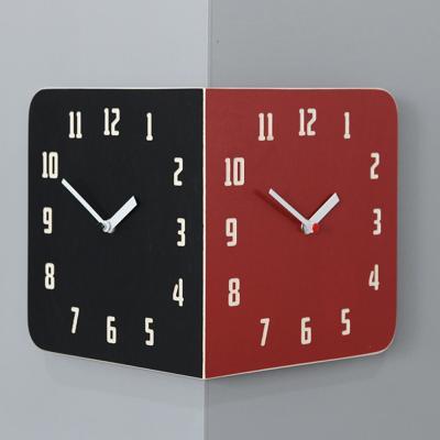 [하이모리] 타임데코 모던 레트로 라운드 코너 양면 벽시계 B&R [월클락/인테리어소품]