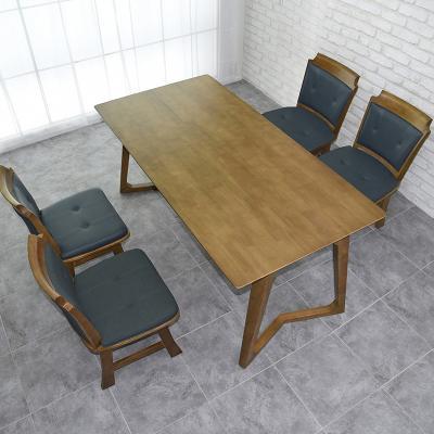 도밍 고무나무 원목 4인용 식탁세트 의자형