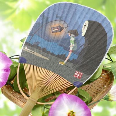 가오나시 타원형 대나무 부채 (마중)