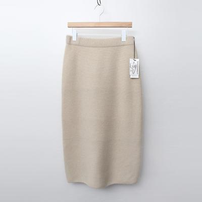 Maille Raccoon Wool Long Skirt