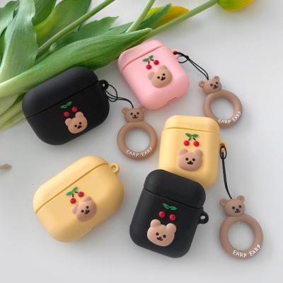 에어팟케이스 귀여운 곰돌이 실리콘 체리베어ap-0101