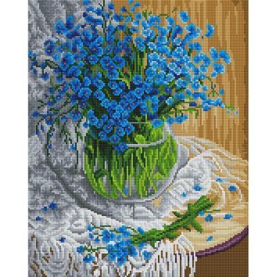 블루 안개꽃 (캔버스형) 보석십자수 40x50