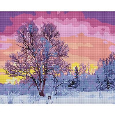 겨울풍경 (캔버스형) 보석십자수 40x50