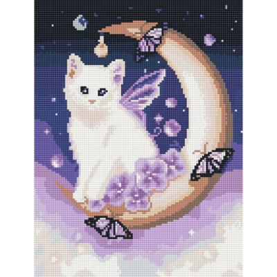 달빛 고양이 (캔버스형) 보석십자수 30x40