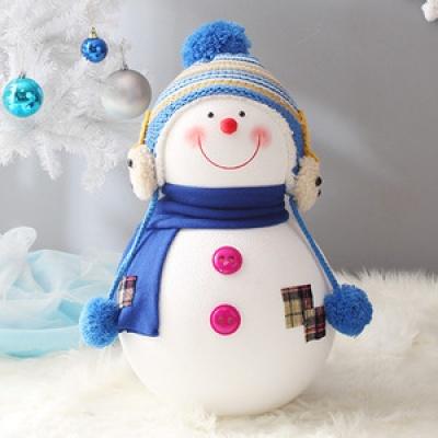 동글이 니트모자 눈사람(50cm블루)