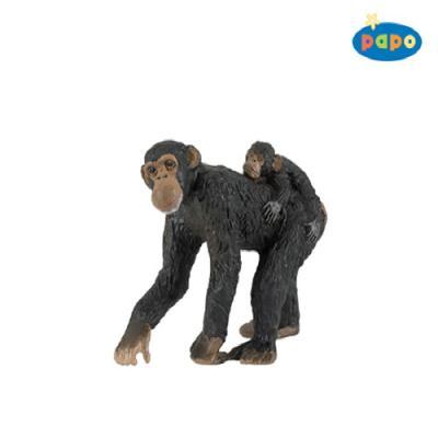 엄마 침팬지와 아기 침팬지