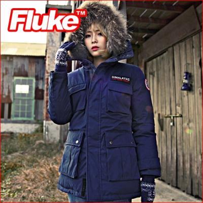 [플루크 패딩] 히말라야 리얼라쿤 다운야상 패딩 점퍼 네이비 FPJ1507-NAVY FLUKE 15FW