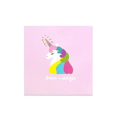 [금박] 라벤더 트윙클 유니콘 카드