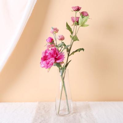 [마쉬매리골드]클래식 작약 볼뭄 꽃가지 화병세트