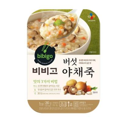 [CJ제일제당] 비비고 버섯야채죽 280gx5팩