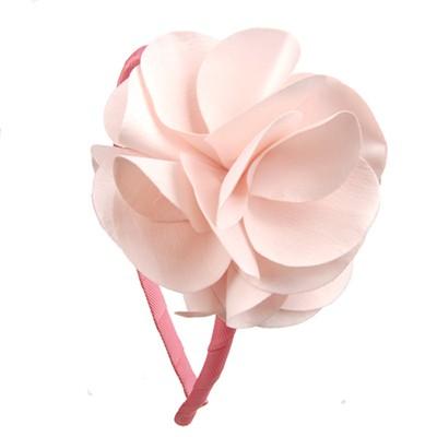 [헤어보우]Lovely Flower 헤어밴드-Lt..Pink