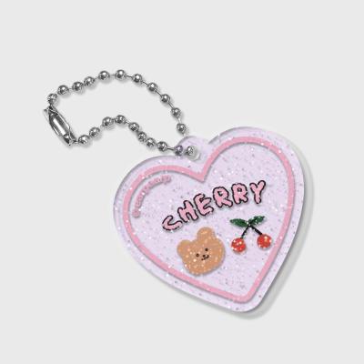 Dot cherry bear(글리터키링-퍼플)